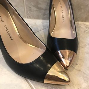 Chinese Laundry Gold Toe Leather Pumps